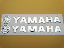 Tank Fairing Badge Emblem Logo Decal Sticker Pad For Yamaha 145mm Silver New
