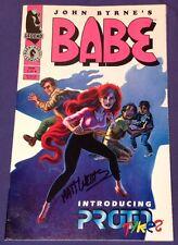 Babe 3 September 1994 7.5-8 Vf-/Vf Dark Horse John Byrne Signed by Matt Webb