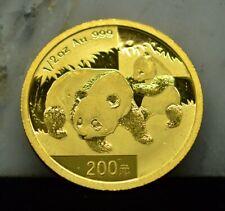 2008 GOLD PANDA CHINA 200 YUAN 1/2 OZ .999 GOLD BU