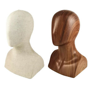 """Durable FPR 13"""" Tall Male Mannequin Head Manikin for Hats Display Stand"""