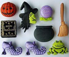 La buona Strega-Halloween stregoneria wicca Novità dress It Up Bottoni Craft