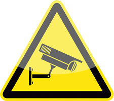 "Video Surveillance CCTV Warning Sign Car Bumper Sticker Decal 5"" x 5"""