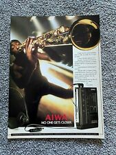 Rare Vintage Original 1987 Magazine Advert Picture Aiwa Personal Stereo 80's Ad