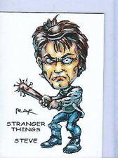 STRANGER THINGS STEVE ** TRADING CARD ART SIGNED by RAK ** NM SEE MY STORE