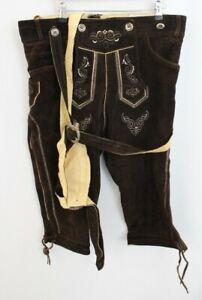 RIDEX Oktoberfest Bavarian Leather Lederhosen Shorts & Suspenders 50 - H29