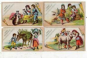 SET OF 4 JENNINGS & SMITH FLAVORING EXTRACTS*GRAND RAPIDS*CATS*GOAT*DONKEY*BIRD