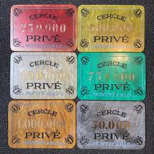 New ListingOriginal Antique Monte Carlo Casino Chip Cercle Prive Gambling Marker Set of 6
