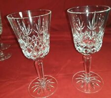 "2 pc LENOX Crystal CHARLESTON Cut Wine Glasses 6.75"""
