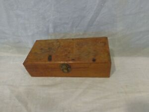 Lot of  vintage small Wooden Box with antique & vintage Stamps