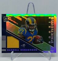 Darrell Henderson 2019 Donruss Optic Phenom Relic Jersey RC SIlver /50 ( Rams )