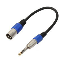 "XLR Male to 1/4"" 6.35mm TRS Male Balanced Stereo Audio Mic OFC Cable 11.81 inch"