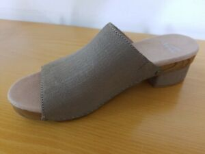 Dansko Maci Taupe Slide Leather  Women's Sandals  - NEW -  Size EU  42
