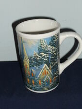 Thomas Kincade 2008 Coffee Mug Winter At Mountain Chapel Christmas