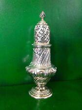 Large Ornate Victorian Antique English Sterling Silver Sugar Caster Shaker 1886
