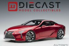 AUTOart 78873 Lexus LC 500 (Radiant Red Metallic/Dark Rose Interior) 1:18 Scale