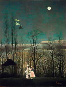 Henri Rousseau Carnival Evening Giclee Art Paper Print Poster Reproduction