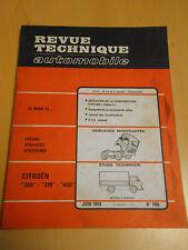 RTA revue technique n° 266 camion CITROËN 350 / 370 / 450