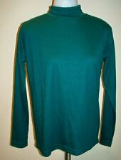 Womens NWT CASUAL CORNER Mock Turtleneck Shirt - Forest Green Sz S/M