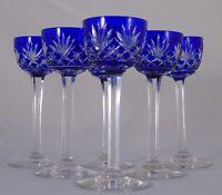 Saint Louis - Service de 6 verres à liqueur en cristal doublé, modèle Massenet