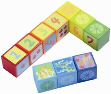New Haba Number Dice Wooden Building Blocks, educational age 2-6 yrs, Germany