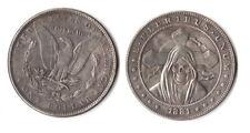 Fantasy Issue Novelty Coin 1881 S Morgan Dollar W/ Grim Reaper Skull Head