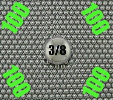 100 -  3/8 Inch G25 Chrome Steel Bearing Balls AISI 52100  12.4 oz. Made in USA