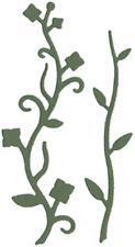 QuicKutz  Lifestyle Crafts 4X4 Single Die VINES  Leaves, Buds, Flourish -0089