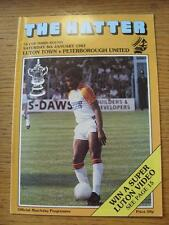 08/01/1983 Luton Town v Peterborough United [FA Cup] . Item In very good conditi