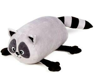 Racoon Bolster Pillow, Gray, 8x16