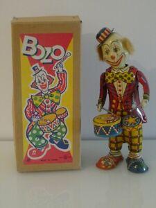TK Toys Japan Made Clown BOZO mécanique par Teruhisa Kitahara Boite