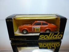 SOLIDO 70 OPEL GTE RALLYE - ORANGE 1:43 - VERY GOOD CONDITION IN BOX