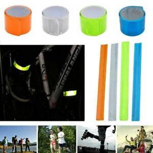 1~4X Reflective Night Safety Slap Wrap Band Ankle Leg Wrist Cycling W5C5 T6R7