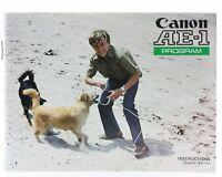 Bedienungsanleitung Canon AE-1 AE1 AE 1 Program Intructions