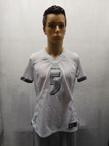 Nike Joe Flacco Baltimore Ravens White Silver Jersey NFL Womens L
