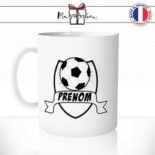 Mug Foot Ball Ballon Enfant- Tasse Prenom Personnalisable - Idée Cadeau Thé Café