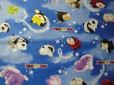 Pillow Pets Tossed-Blue B/G By Print Concepts-BTY-Panda, Bee, Unicorn, Ladybug