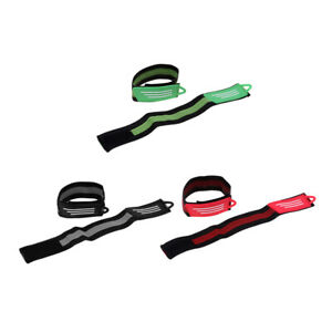 2 Pack Elastic Cycling Ankle Strap Bike Pants Band Wristband Safety Gear