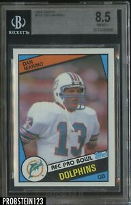 1984 Topps #123 Dan Marino Miami Dolphins RC Rookie BGS 8.5 NM+ HOF