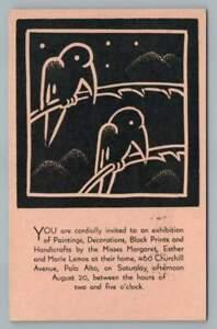 Pedro de Lemos Daughters Art & Crafts Print Advertising PALO ALTO Stanford 1932