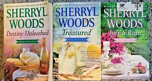 SHERRYL WOODS PERFECT DESTINIES SERIES PAPERBACK ROMANCE 3 BOOK LOT FREE SHIP