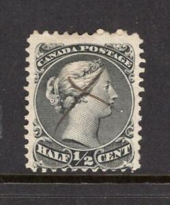 Canada 1868 Queen Victoria ½¢ - Used - SC# 21  Cats $80.00  - No Reserve!