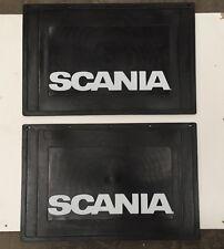 Pair of Scania Mudflaps 600mm x 400mm - Embossed