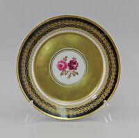 99840617 Porzellan Teller Lichte kobalt Prunk-Wandteller Rose Kobalt gold