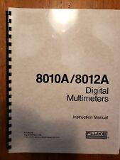 Fluke 8010A 8012A Digital Multimeter Instruction Manual Service Manual