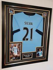 Rare David Silva Signed Photo and Shirt Autographed Display & AFTAL DEALER COA