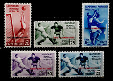 Italy, Aegean Islands: 1934 Classic Stamp Collection Unused Soccer Set Sct#31-35
