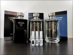 Prada L'Homme / L'Eau / Intense 2 ml Sample Decant Eau De Parfum Powdery Fresh