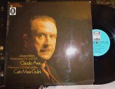 BRAHMS Piano Concertos 1 & 2 CLAUDIO ARRAU / Giulini, Philharmonia O 2 LP NM/EX