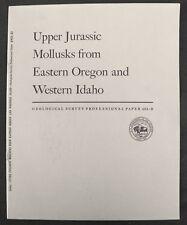 Usgs Oregon Idaho Jurassic Fossils Rare Report Or Id Cool Fossil Locations 1964