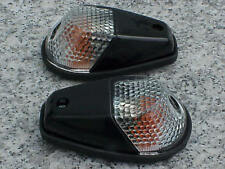 Kawasaki Ninja 250 300 500 ZX6R ZX9R ZX10R Black/Clear FLUSH-MOUNT TURN SIGNALS